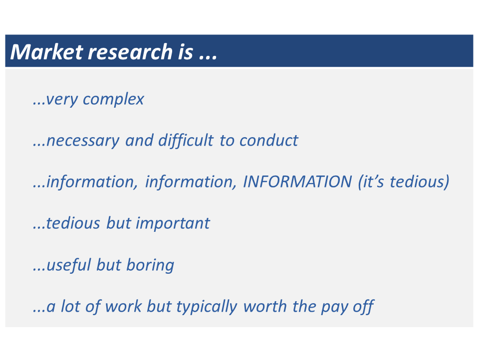 Market research is...