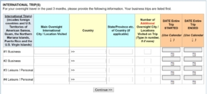 Screenshot 1 of the dreaded data dump survey