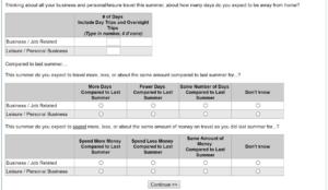 Screenshot 4 of the dreaded data dump survey
