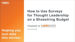 How to Use Surveys for Thought Leadership on a Shoestring Budget